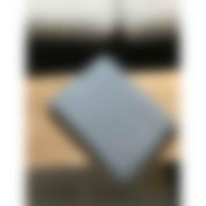 Linge Particulier Waffle Linen Bed Throw 140 x 200 cm Gris Bleu