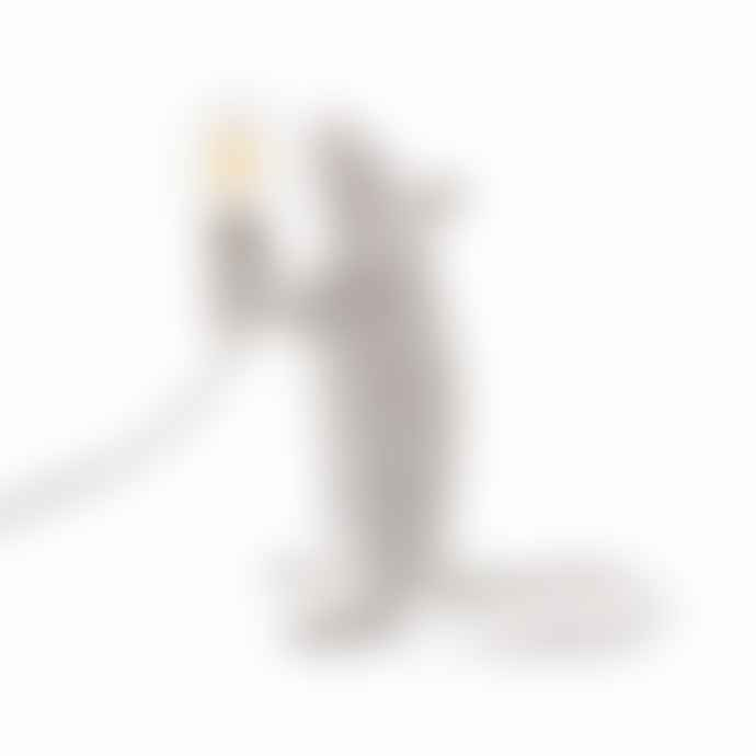 Seletti White Mouse Lamp Standing