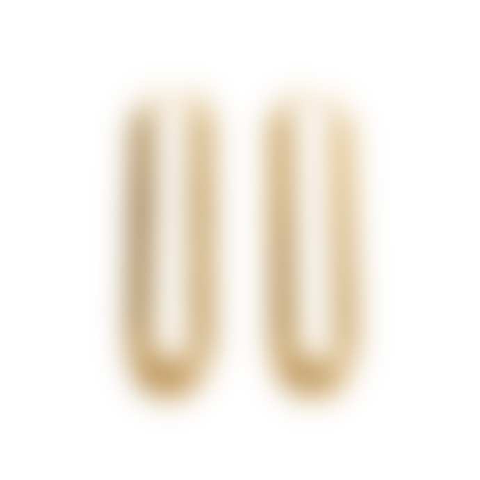 Chalk Arco Arched Earrings Gold
