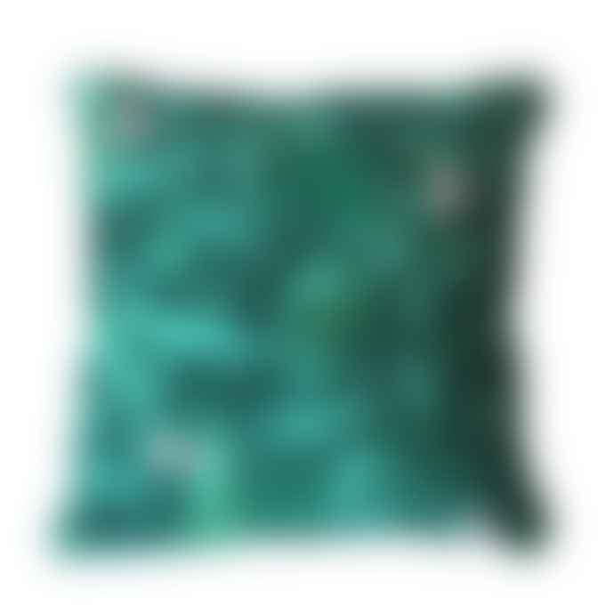 Batabasta I See You Green Printed Cushion 40 X 40 Cm