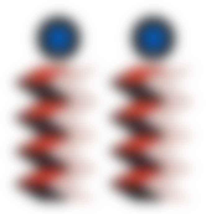 Doodad + Fandango  Dazed And Confused Perspex Earrings