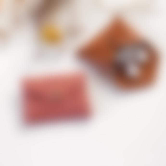 barnabe aime le cafe Mini Leather Teddy Bear Pouch