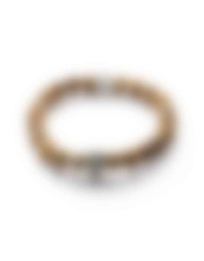 Gemini 8mm Beige Natural Stone Skull Bracelet