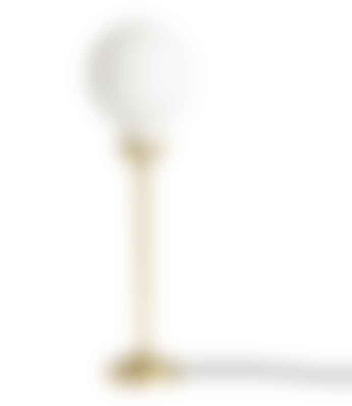 101 Copenhagen   Brass Opaque Punch Ball Table Lamp