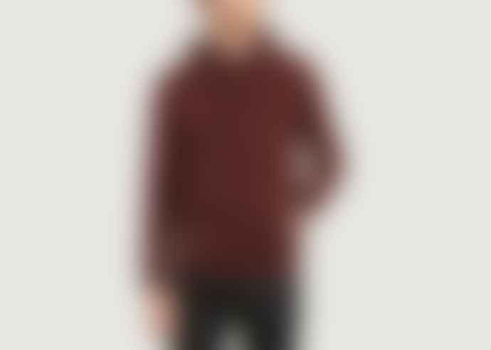 Colorful Standard Burgundy Cotton Hooded Sweatshirt