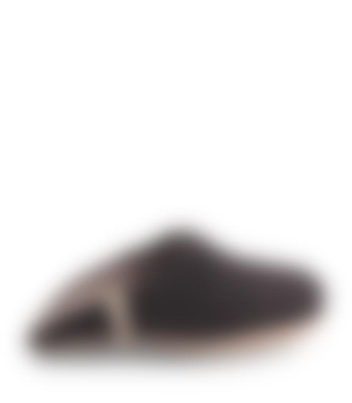 Egos wool slippers Wool Felt Slipper By Egos Copenhagen BLACK