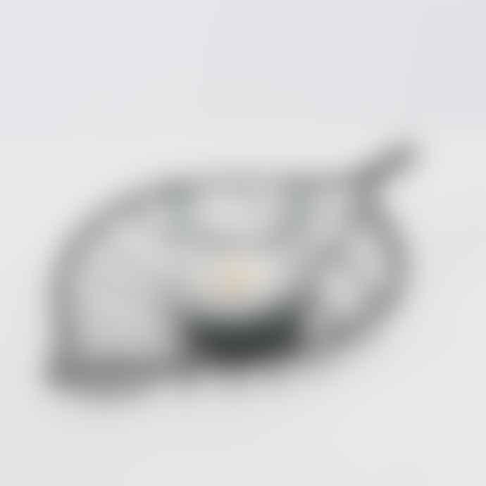 Boltze L25cm Metal Leaf Glass Lantern Holder