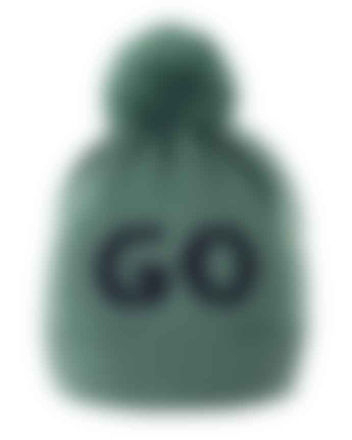 nadadelazos Green Wool Cap Stop And Go With Pompom