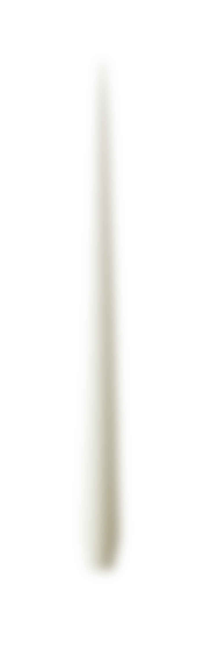 Ester & Erik Pair Of Long Tapered Dining Candles In Cream No.13