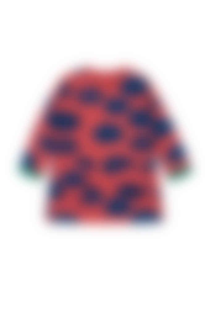 nadadelazos Pink Organic Cotton Dress With Cloud Print
