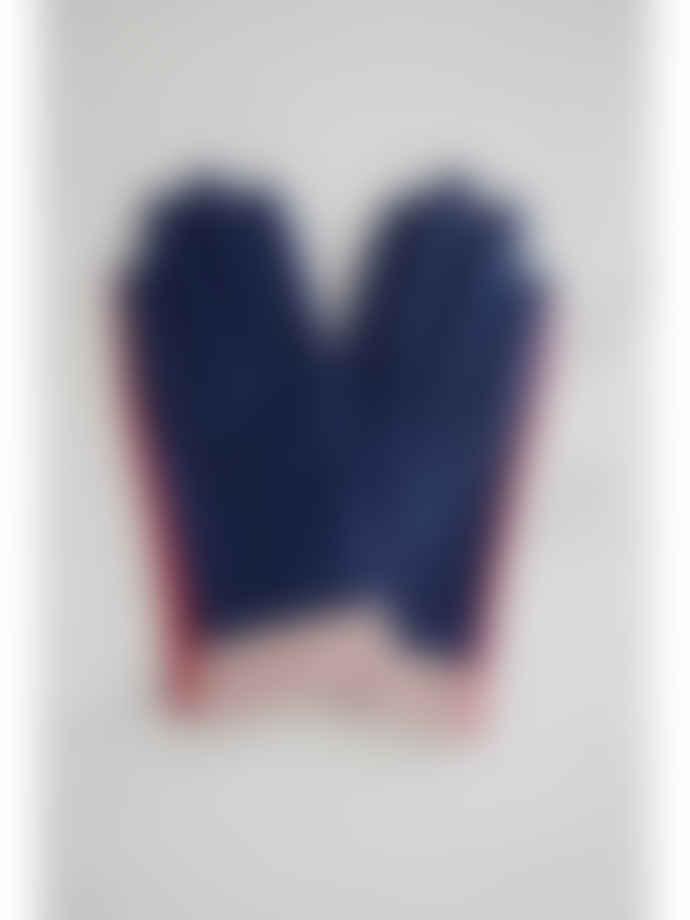 Mabel Sheppard Indigo Leather Block Gloves