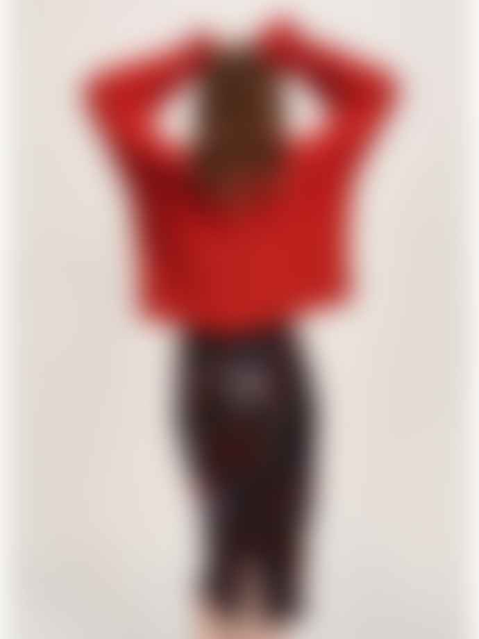 Essentiel Antwerp Burgundy Temptation Sequin Skirt