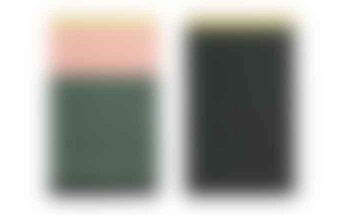Normann Copenhagen Trace Rug Blush/Dark green