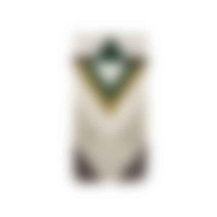 Green Cotton Geometric Decorative Wall Rug