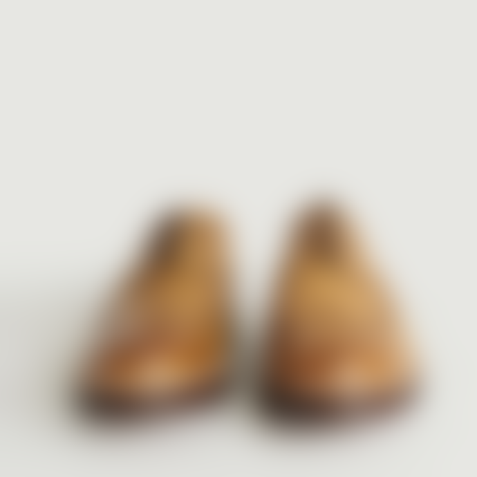 Grenson Camel Leather Archie Derbies Shoes