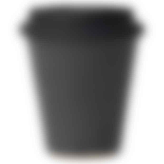 Erika Petersdotter Ceramic Take away cup dark gray black lid