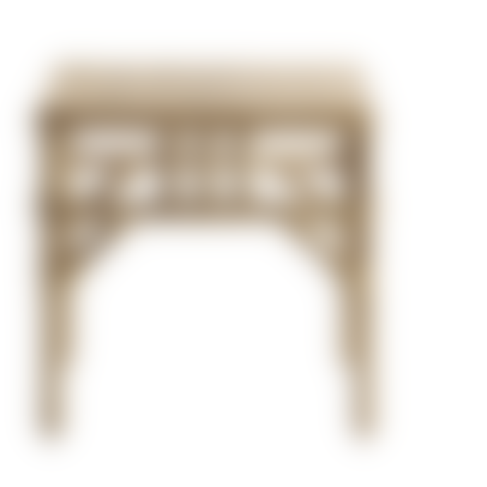 TineKHome Natural Rattan Square Table