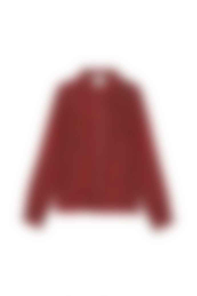 Leon & Harper Large Red Natural Fibre Cyrus Tartan Shirt