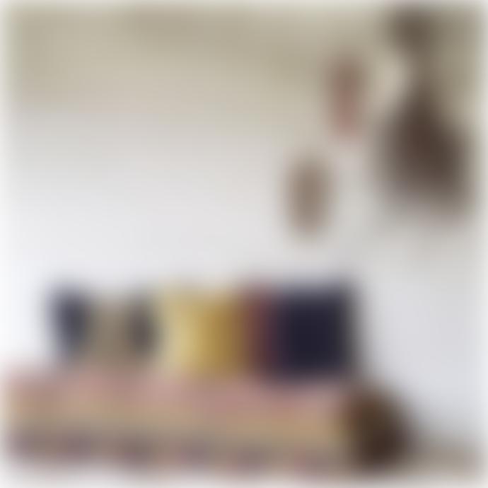 Madam Stoltz 50 x 50cm Mustard Velvet Print Cushion