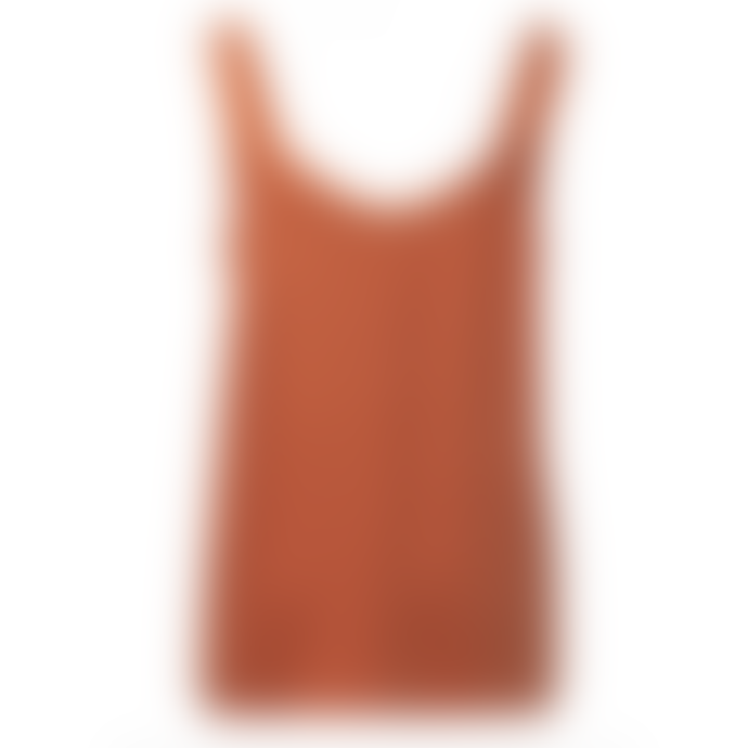 Yaya Singlet Top with Contrast Straps -  Rust
