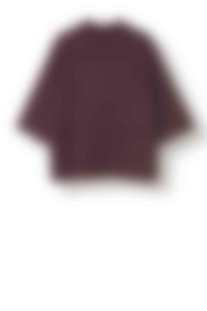 Stella Nova Reddish Brown Nylon Mohair Knit Sweater