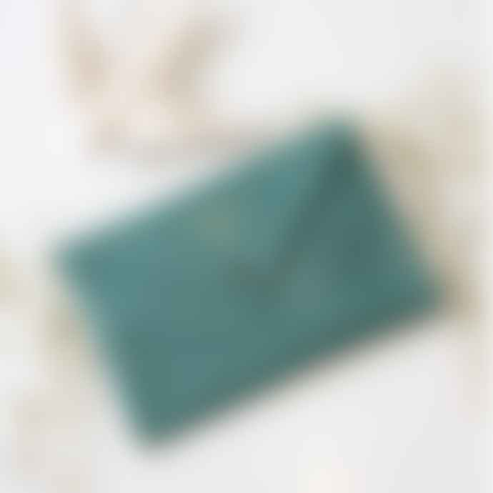 barnabe aime le cafe Leather Envelope Pouch
