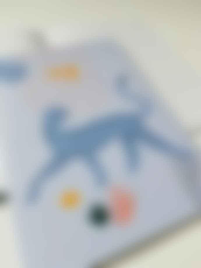 Feather & Nest Stay Wild Blue Cheetah Notebook