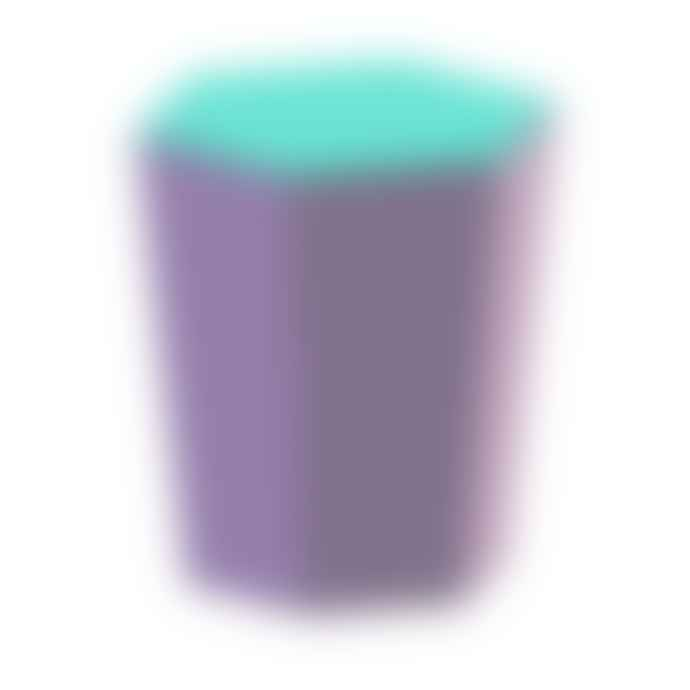Lund London Skittle Hex Lidded Candle - Lilac and Turquoise