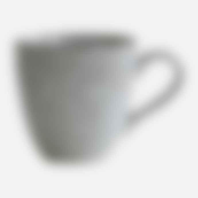 House Doctor Grey and Blue Ceramic Rustic Mug, Set of 2