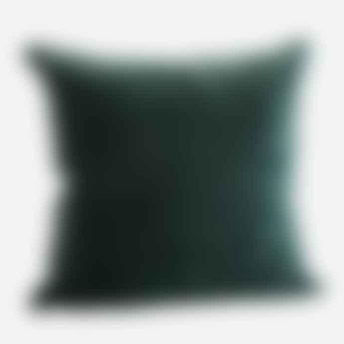 Madam Stoltz Forest Green Velvet Cushion