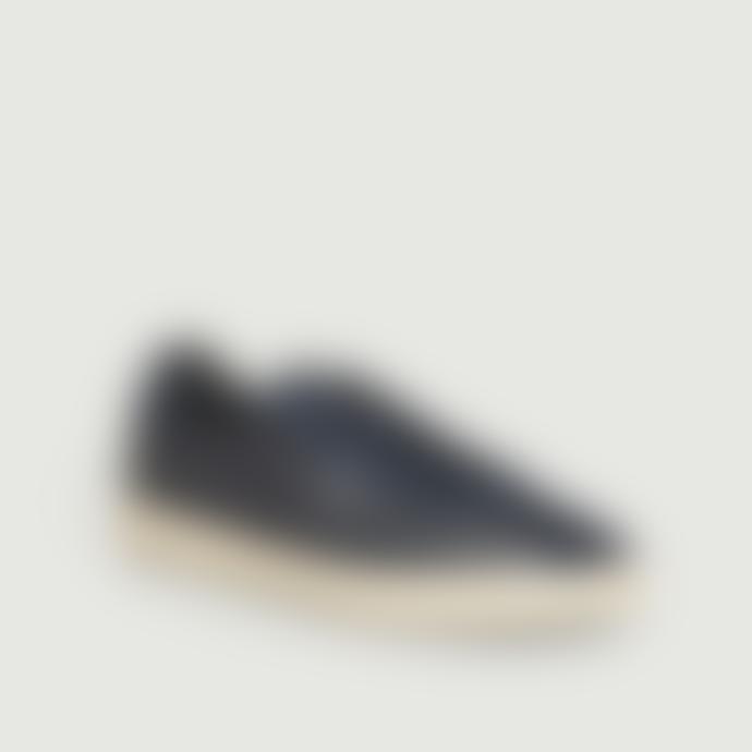Clae Navy Blue Leather Noah Sneakers