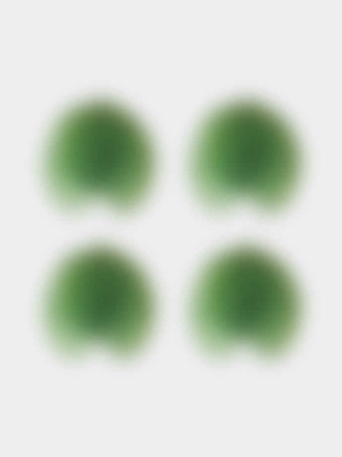 COSTA NOVA Unique Green Glazed Ceramic Hydrangea Ceramic Leaf (Set of 4)