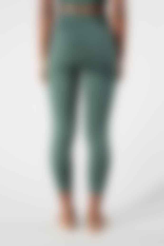 Girlfriend Collective Moss Green Compressive High Rise Leggings 7 8 Length