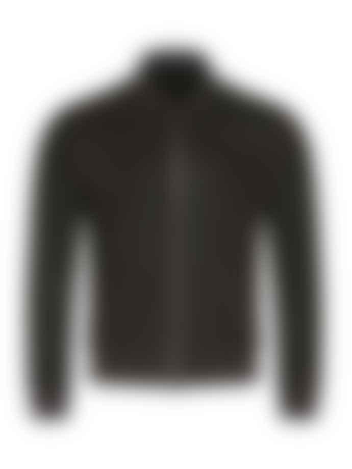 Corneliani Perforated Leather Bomber Brown