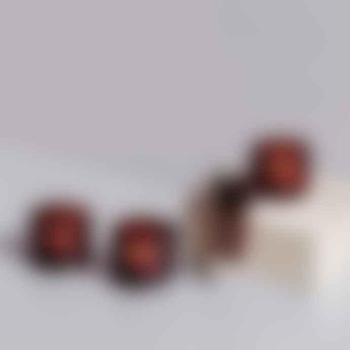 Iittala   Kastehelmi Glass Votive Cranberry