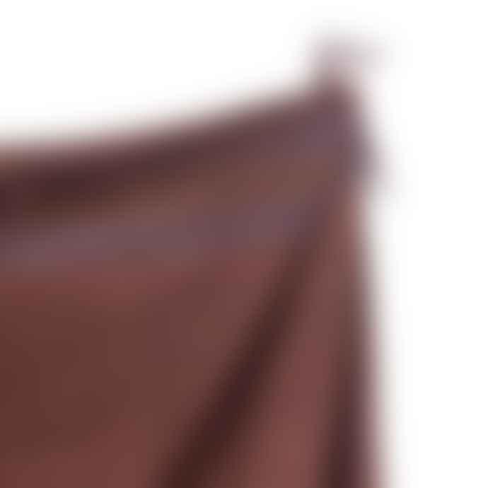 The Tartan Blanket Co. Recycled Wool Blanket In Brown Stripe