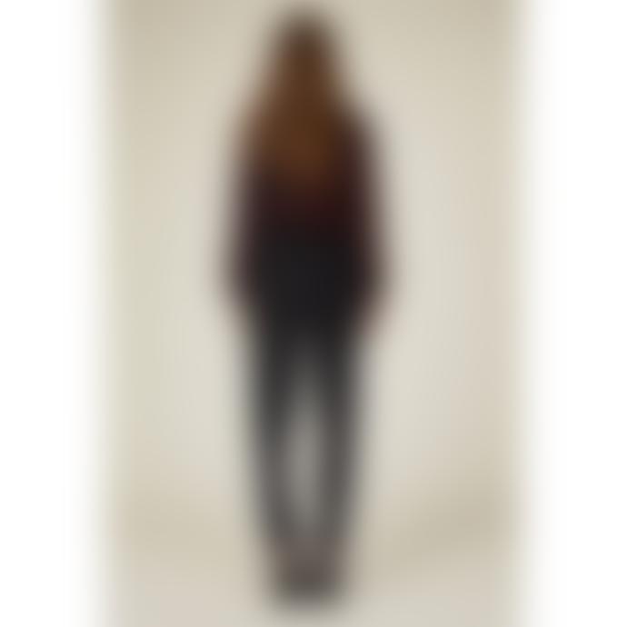Louizon Black Viscose Fine Stripes Phoebe Pants