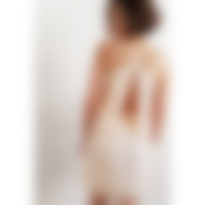 Louizon Nude Silk Nick Dress
