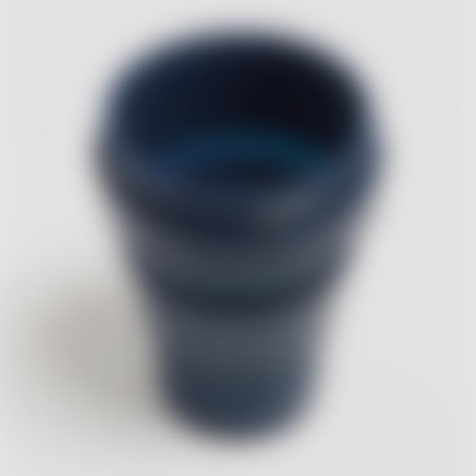 Stojo 12 oz Denim Dark Blue Collapsible Coffee Cup