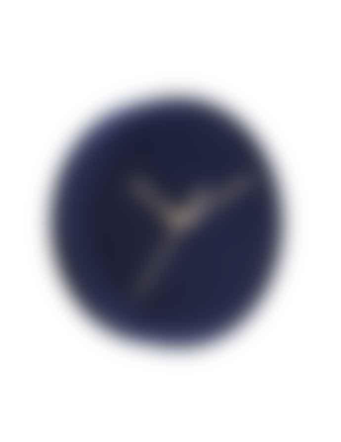 Karlsson Dark Blue Lush Velvet Wall Clock (6 colours)