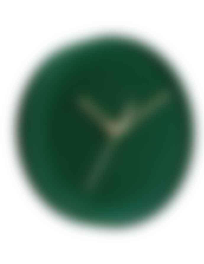 Karlsson Dark Green Lush Velvet Wall Clock (6 colours)