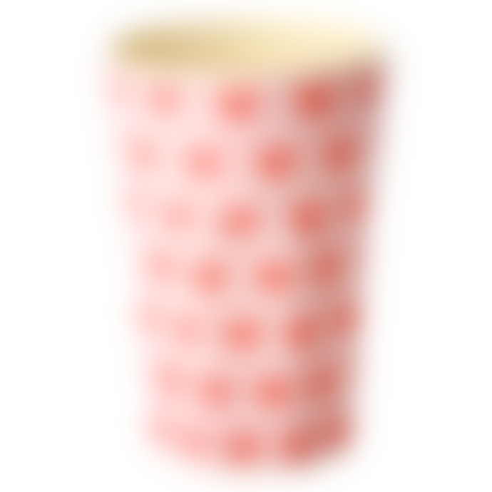 rice Large Melamine Tall Cup with Sweet Hearts Print