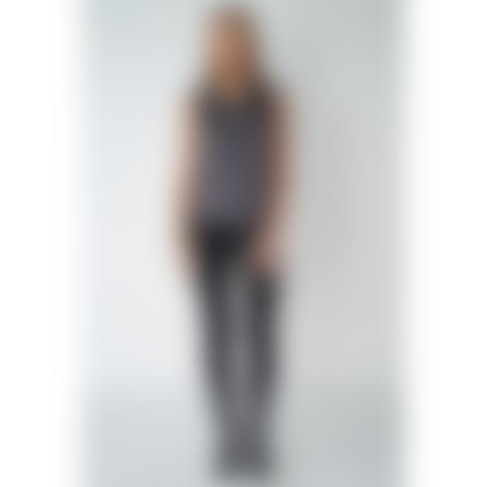 POP Copenhagen Charcoal Silk Sleeveless Top