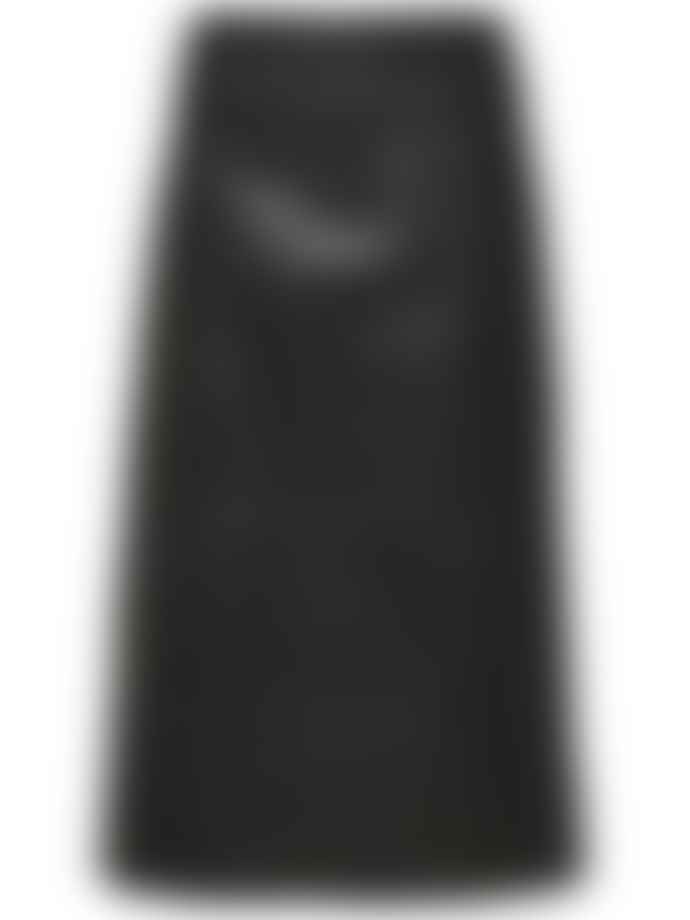 Selected Femme Slfardee Leather Midi Skirt