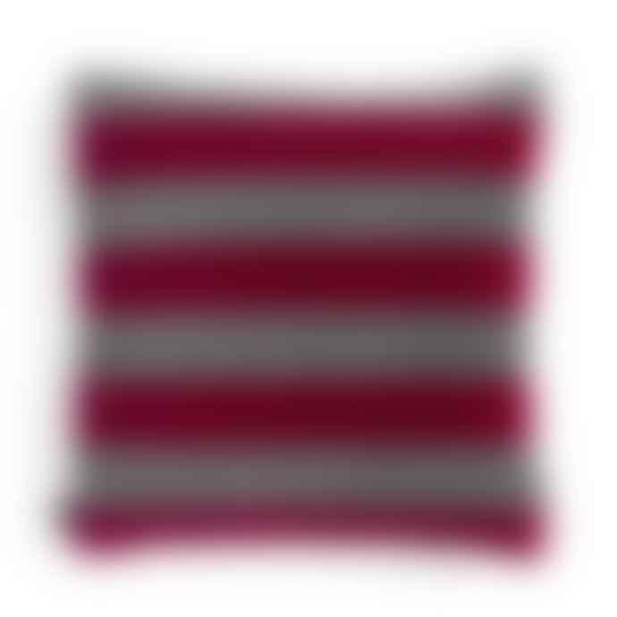 HAY Soft Stripe Cushion Fuchsia