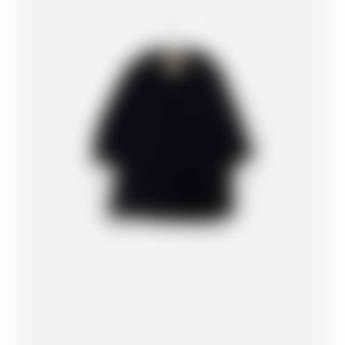Play Up Girls Woolen Fleck Black Coat