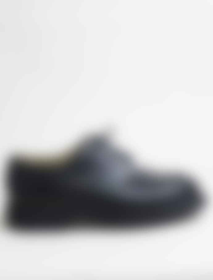 Paraboot Black Leather Chambord Shoes