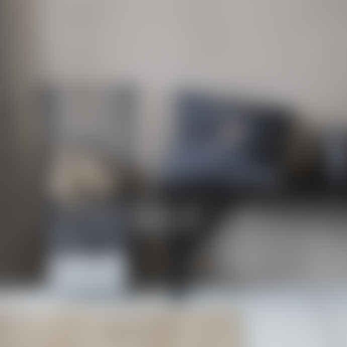 House Doctor 50 x 50cm Dark Grey Linen and Cotton Inka Pillowcase