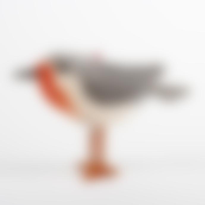 Sjaal met Verhaal 8cm Wool Felt Robin