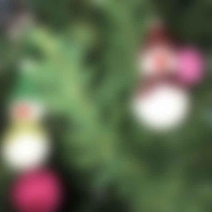 Sjaal met Verhaal Wool Felt Snowman mini set of 5